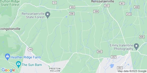 Map of Rensselaerville, NY