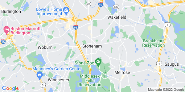 Map of Stoneham CDP, MA