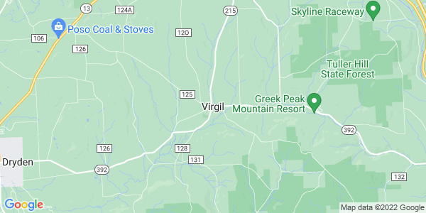 Map of Virgil CDP, NY