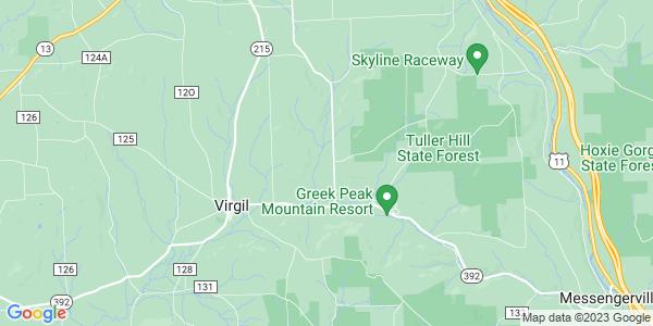 Map of Virgil, NY