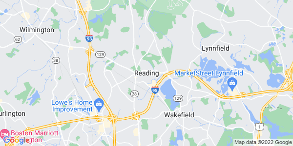Map of Reading CDP, MA