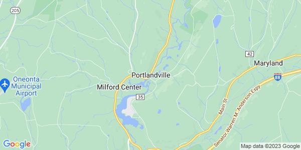 Map of Portlandville, NY