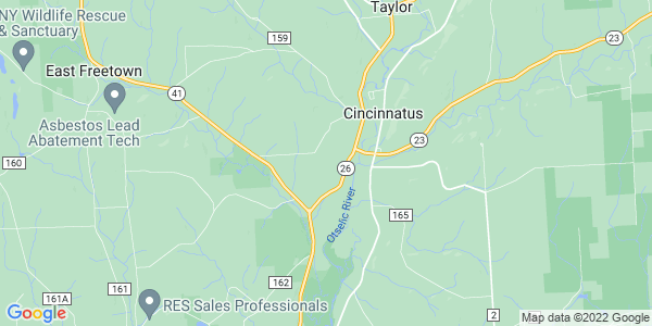 Map of Cincinnatus, NY