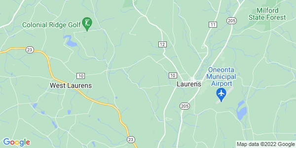 Map of Laurens Town, NY