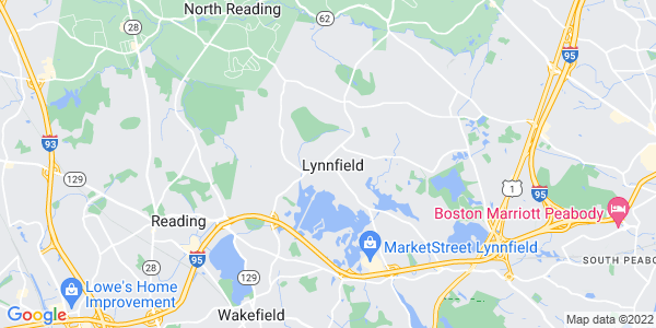 Map of Lynnfield CDP, MA