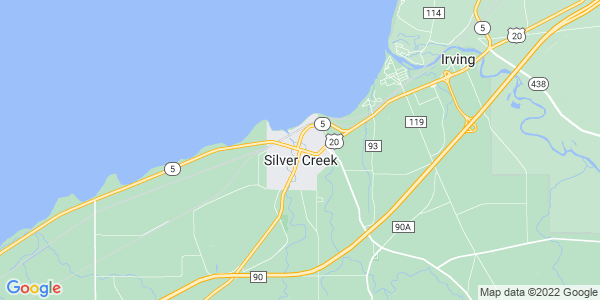 Map of Silver Creek, NY