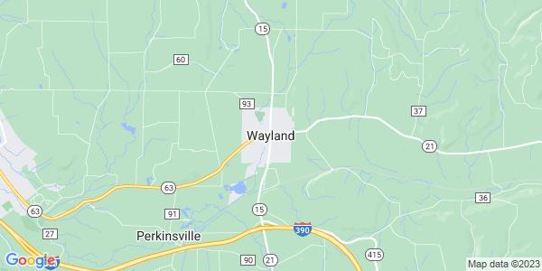 Map of Wayland, NY