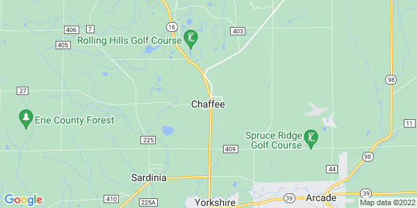 Map of Chaffee, NY