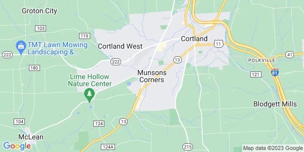Map of Munsons Corners, NY