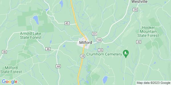 Map of Milford, NY