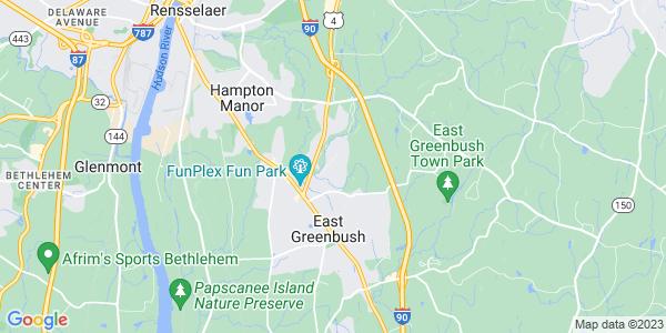 Map of East Greenbush, NY