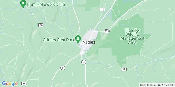 Map of Naples, NY