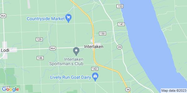 Map of Interlaken, NY