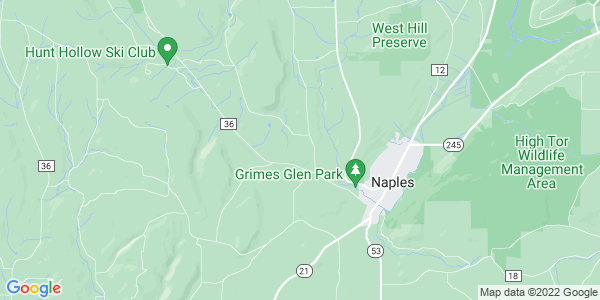 Map of Naples Town, NY