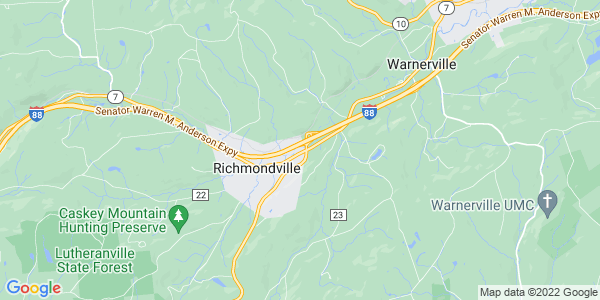 Map of Richmondville Town, NY