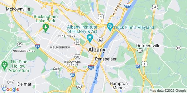 Map of Albany, NY