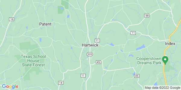 Map of Hartwick CDP, NY