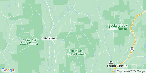 Map of Lincklaen, NY