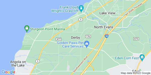 Map of Derby, NY