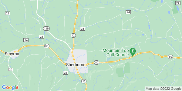 Map of Sherburne Town, NY