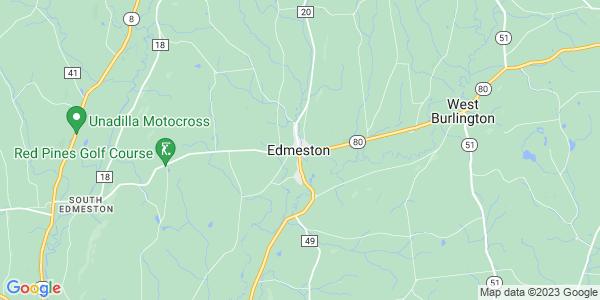 Map of Edmeston CDP, NY