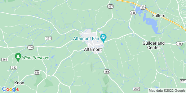 Map of Altamont, NY