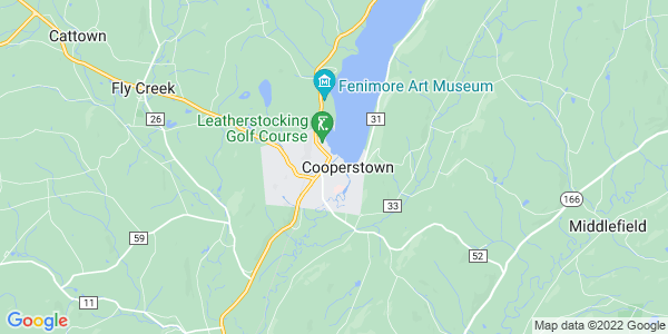 Map of Cooperstown, NY