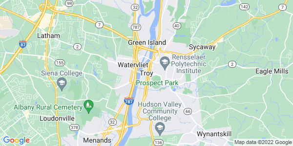 Map of Troy, NY