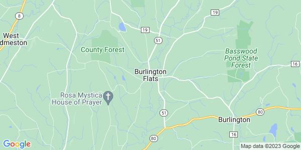 Map of Burlington Flats, NY