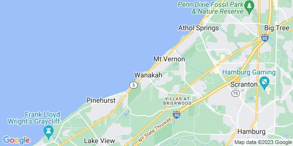 Map of Wanakah, NY