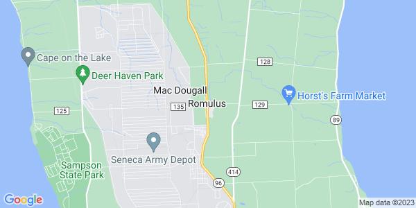 Map of Romulus CDP, NY