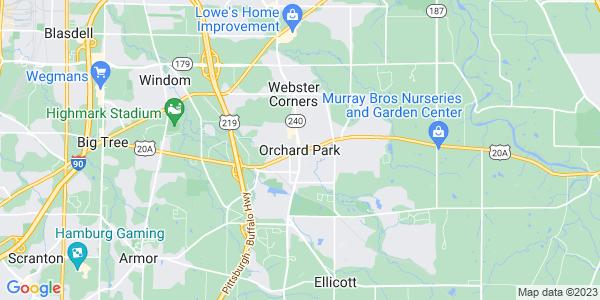 Map of Orchard Park, NY