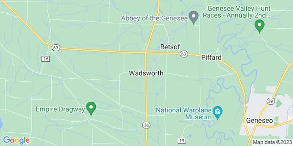 Map of Wadsworth, NY