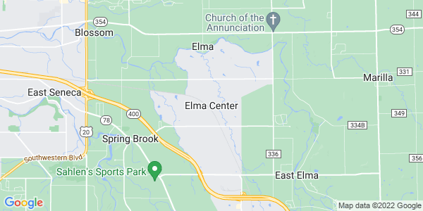 Map of Elma Center, NY