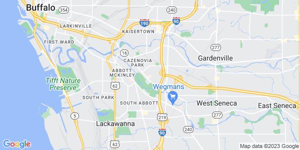 Map of West Seneca CDP, NY
