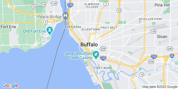 Map of Buffalo, NY