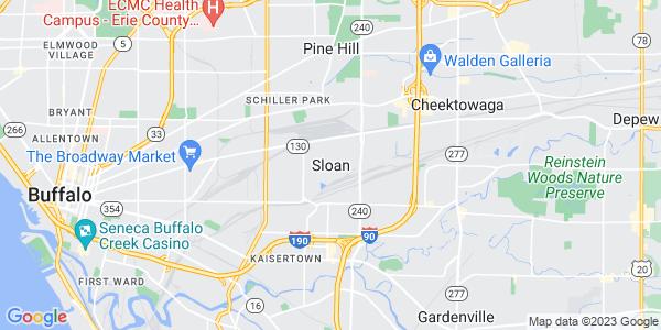 Map of Sloan, NY