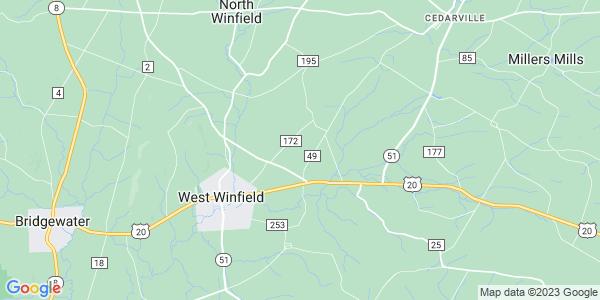Map of Winfield, NY
