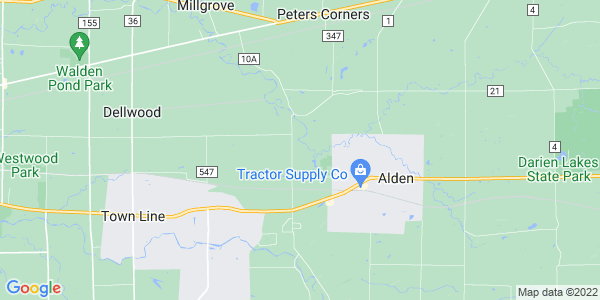 Map of Alden Town, NY