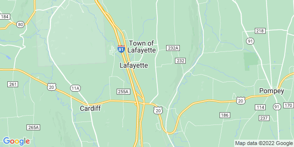 Map of LaFayette, NY