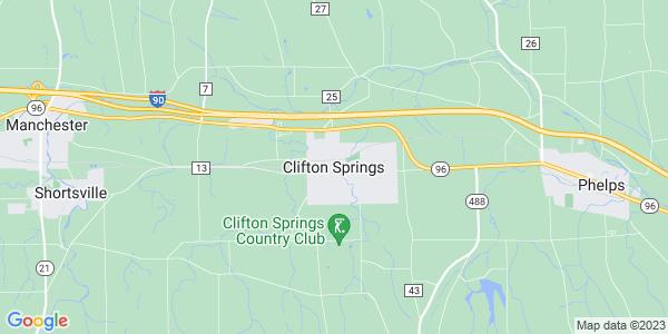 Map of Clifton Springs, NY