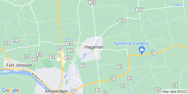 Map of Hagaman, NY
