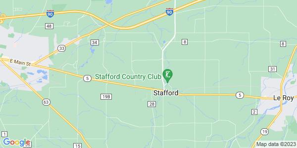 Map of Stafford, NY