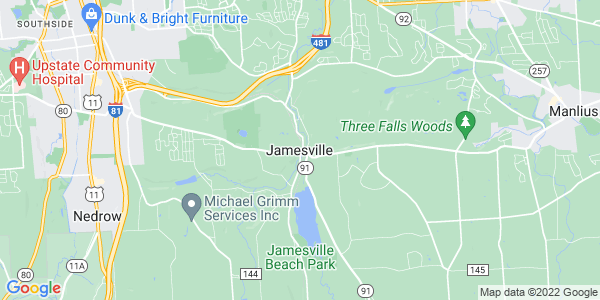 Map of Jamesville, NY