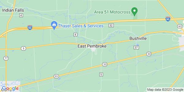 Map of East Pembroke, NY