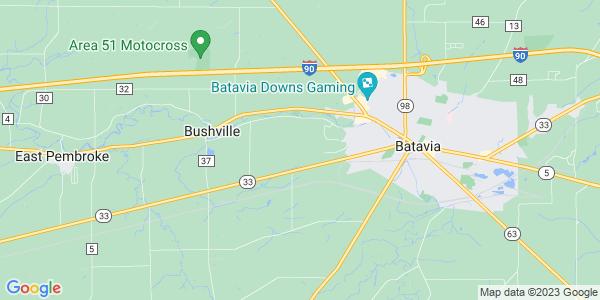 Map of Batavia Town, NY