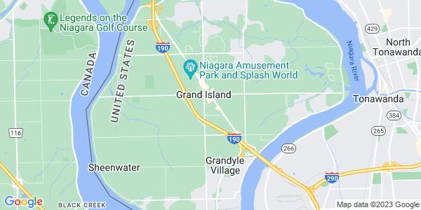 Map of Grand Island, NY