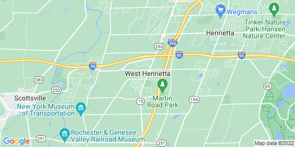 Map of West Henrietta, NY