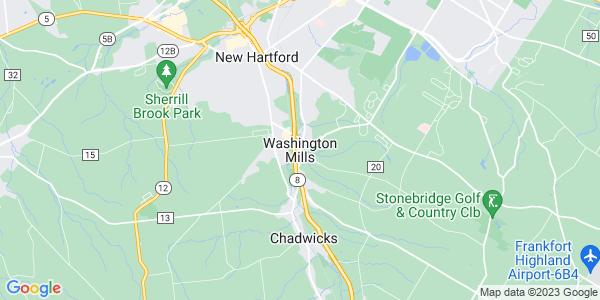 Map of Washington Mills, NY