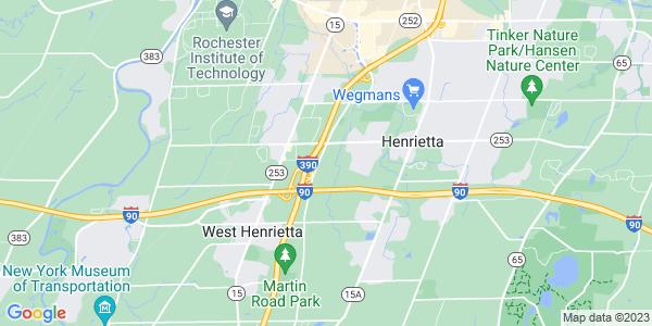 Map of Henrietta, NY